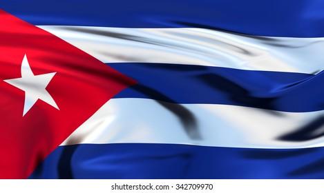 Cuba Flag. 3d illustration