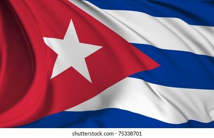 Cuba flag HI-RES collection