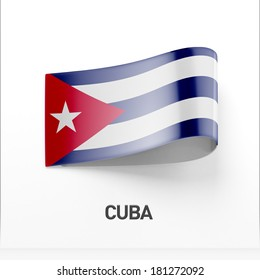 Cuba Flag isolated on white background