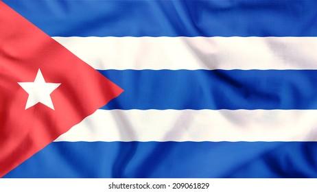 cuba flag waving colorful