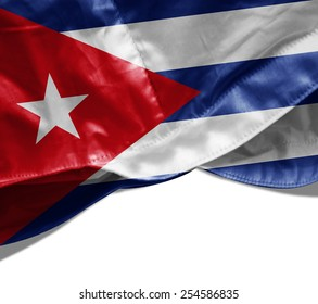 Cuba flag and white background