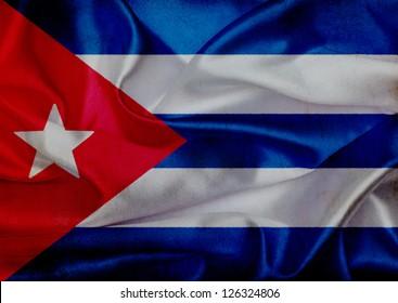 Cuba grunge waving flag