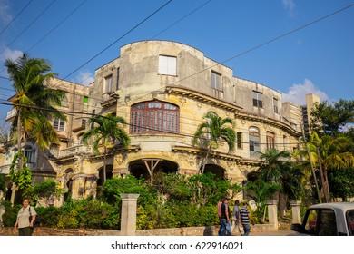CUBA. HAVANA. APRIL, 2017: Street of the historical center of Havana.