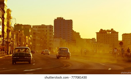 Cuba Havana Cars Oldtimers Streets