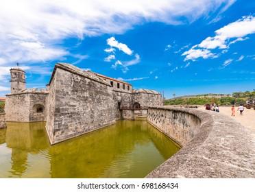 CUBA, HAVANA - MAY 5, 2017: View of Castillo de la Real Fuerza.
