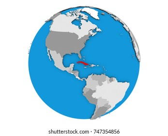 Silhouette map usa on globe all stock vector 175770626 shutterstock cuba highlighted in red on political globe 3d illustration isolated on white background gumiabroncs Image collections