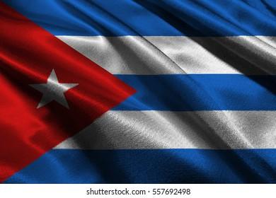 Cuba national flag 3D illustration symbol.
