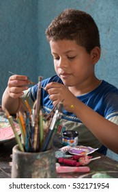 Cuba, Pinar del Rio. Patio del Pelegrin, Boys and Girls Club, community project.  Large home and gardens where various free artistic workshops are held for local children and young adults. 2016-03-27