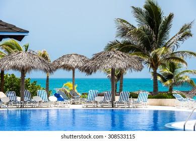 Cuba swimming pool with ocean view in Varadero