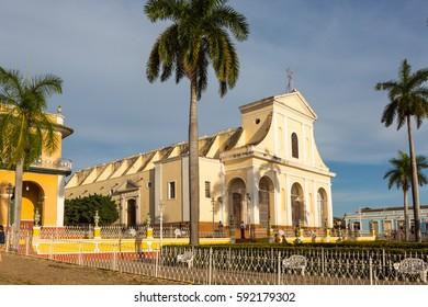 Cuba. Trinidad Attractions. The city's main square - the Plaza Mayor.