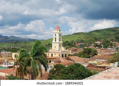 Cuba, Trinidad town at day view