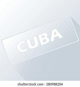 Cuba unique button for any design