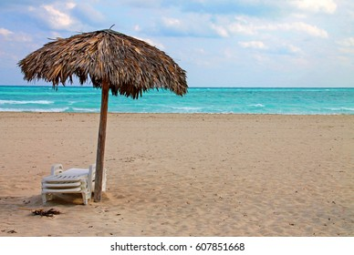 Cuba Varadero Beach Single Sun Umbrella