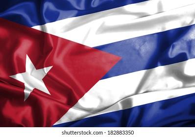 Cuba waving flag