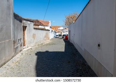 Cuba/Alentejo/Portugal - March 16, 2019 Street in the locality of Cuba, Alentejo, Portugal
