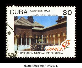 CUBA-CIRCA 1992:A stamp printed in Cuba shows image of the World Philatelic Exhibition, circa 1992.