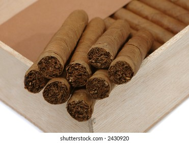 the Cuban cigars are in a box