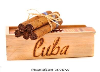 Cuban cigars and domino game. Handmade.