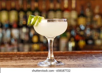 Cuban cocktail Daiquiri -  Space for text