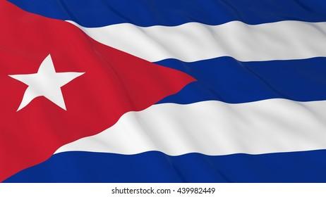Cuban Flag HD Background - Flag of Cuba 3D Illustration