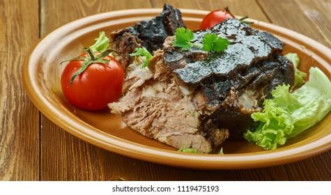 Cuban Mojo Marinated Pork -  Lechon Asado, traditional Cuban roasted pork r