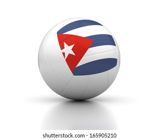 Cuban Volleyball Team (isolated with clipping path)