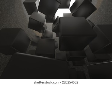 Cube, 3D Abstract Background