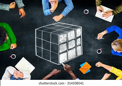 Cube Cubic Puzzle Solution Solving Problem Concept