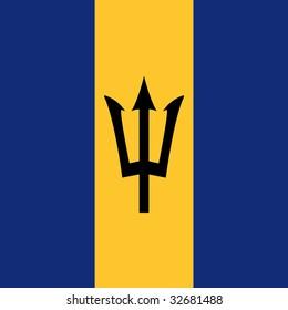cube flag of barbados