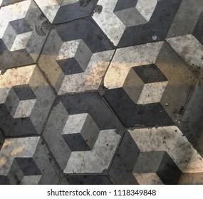 Cube illusion pattern background