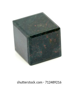 cube of mineral bloodstone
