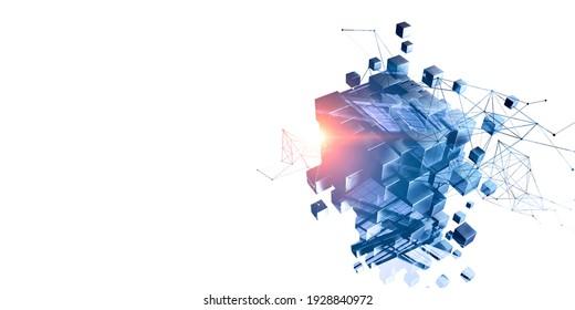 Cube model as symbol of innovation