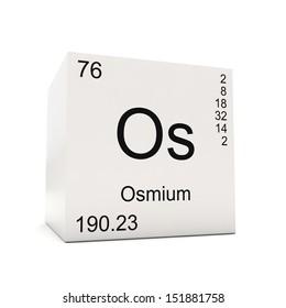 Osmium chemical element symbol periodic table stock illustration cube of osmium element of the periodic table isolated on white background urtaz Choice Image