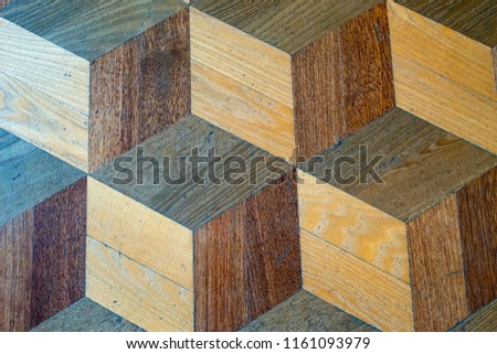 Wandplank Retro Cubes.Cube Square Volume Texture Old Wooden Stock Photo Edit Now