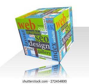 Cube as web design concept