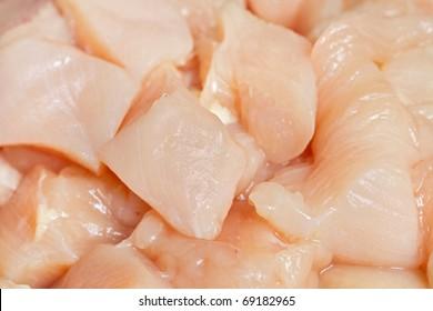 cubed fresh chicken breast