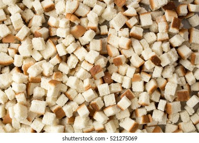 Cubed pieces of bread for making stuffing.