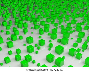 Cubes 3d background
