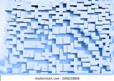cubes coming forwards in an abstract background could be a metaphor for teamwork