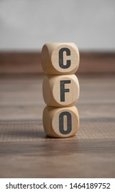 Cubes and  dice with CFO Chief Financial Officer