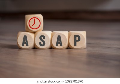 Cubes, dice and paper work with ASAP  As soon as possible
