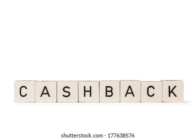 """Cubes with letters """"Cashback"""""""