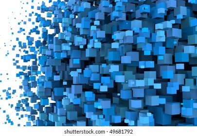 Cubes shape background massive. Crowd of boxes
