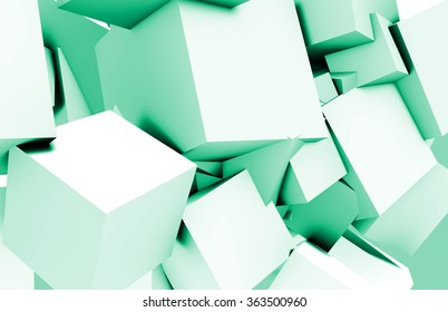 Cubes Square Background in 3d as a Abstract