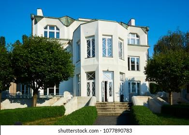 Cubist villa (Kovarovicova villa) in Libusina street Vysehrad, Prague, Czech Republic