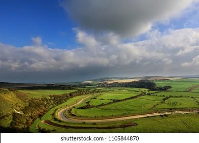 Cuckmere Valley near Alfriston, Sussex, UK