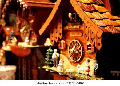 Cuckoo clock closeup