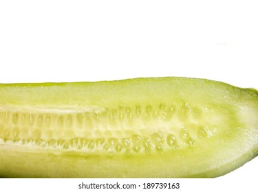 cucumber close up isolated on white