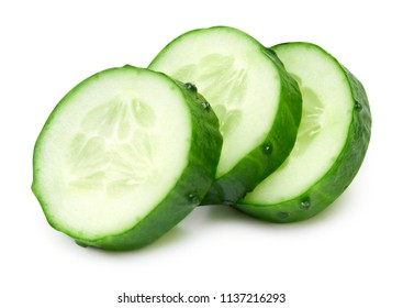 Cucumber collection isolated on a white background
