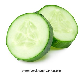 Cucumber isolated on a white background Clipping Path